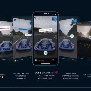 Instagram Hikayelerde Sürüş Simülatörü Deneyimi